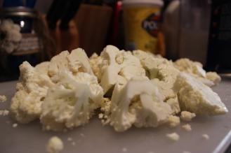 Cut cauliflower