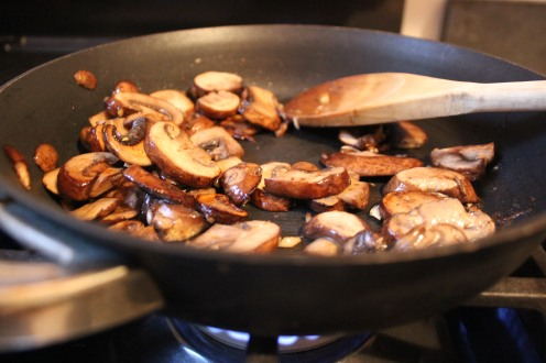 Beautifully sautéed mushrooms and garlic