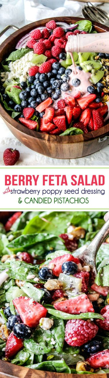 Berry Feta Salad with Strawberry Poppy Seed Dressing